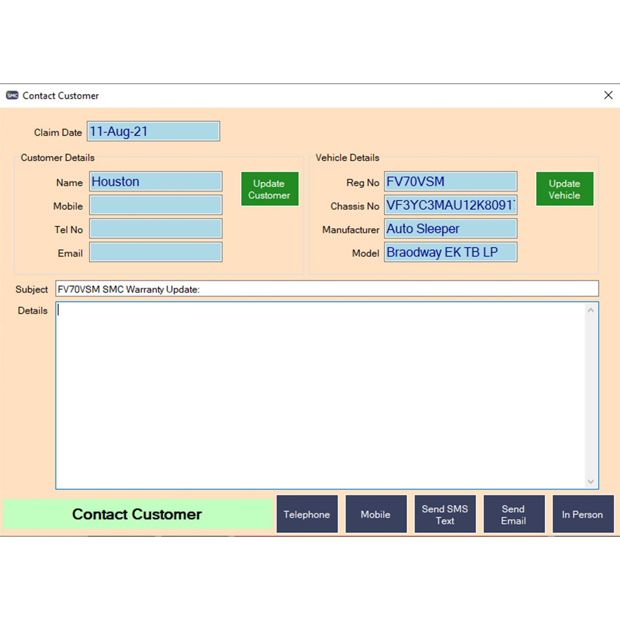 Customer Contact System