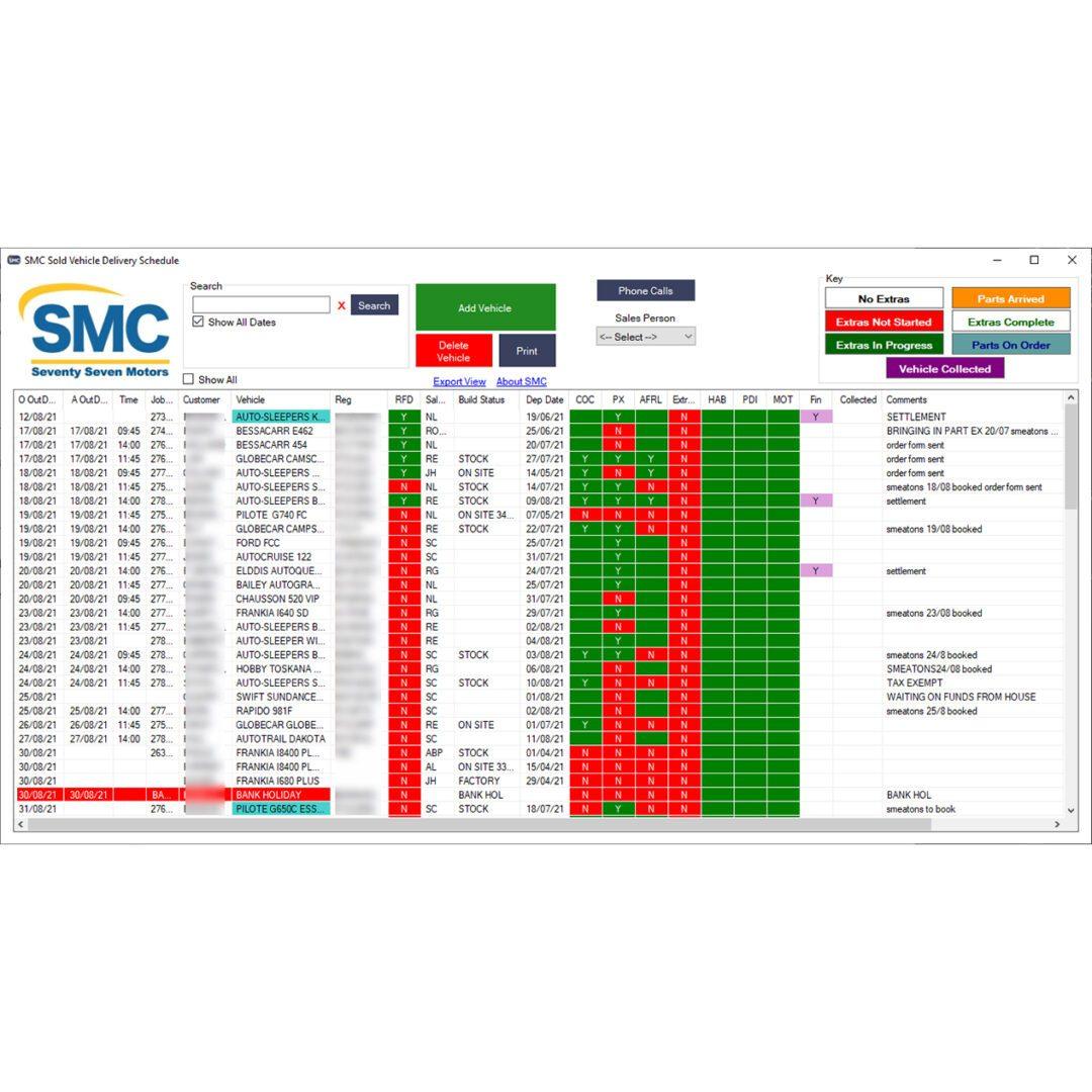 Motorhome Management