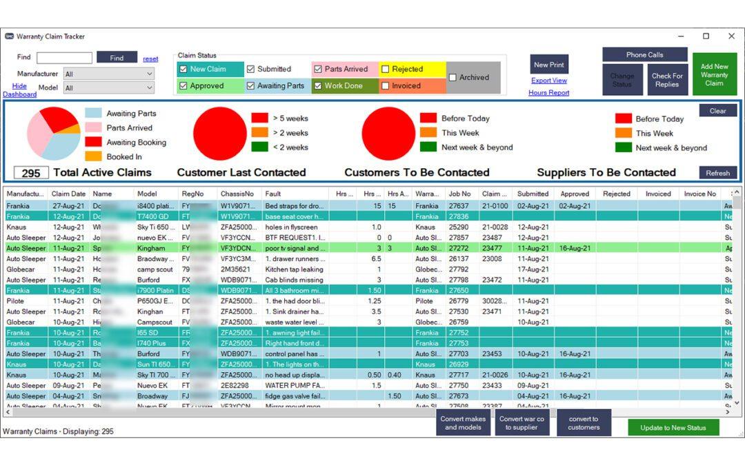 Warranty Claims Tracker